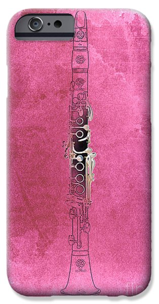 Balck Art iPhone Cases - Clarinet 21 Jazz R iPhone Case by Pablo Franchi