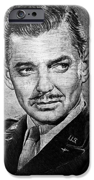 Handsome People iPhone Cases - Clark Gable iPhone Case by Andrew Read