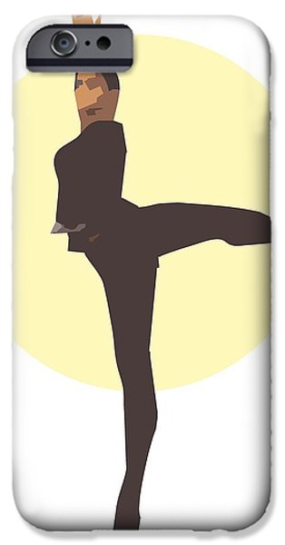 Classic Ballet Dancer iPhone Case by Joaquin Abella