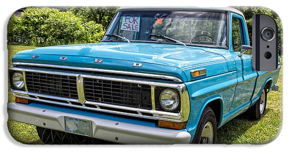 Ford Truck iPhone Cases - Classic Blue Ford Pickup Truck iPhone Case by Edward Fielding