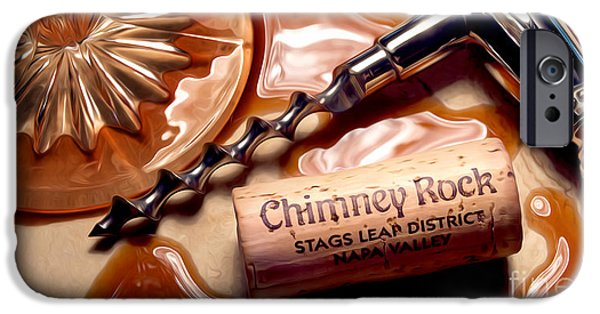 Wine Bottles iPhone Cases - Classic Chimney Rock iPhone Case by Jon Neidert