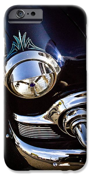 Pinstripes iPhone Cases - Classic Chrome  iPhone Case by Merrick Imagery