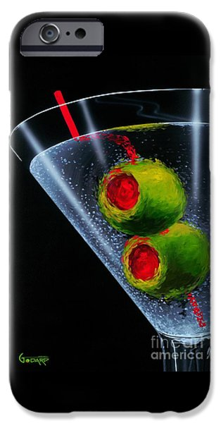Paintings iPhone Cases - Classic Martini iPhone Case by Michael Godard