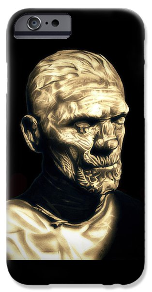 Ancient Scroll iPhone Cases - Classic Mummy iPhone Case by Fred Larucci