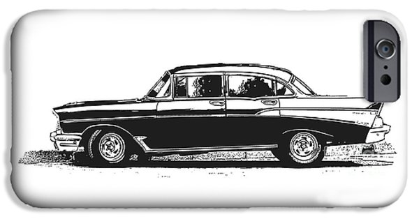 Havana iPhone Cases - Classic Old Car iPhone Case by Edward Fielding
