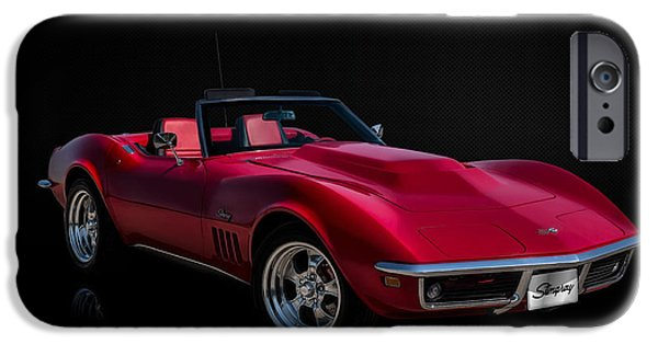 Convertible iPhone Cases - Classic Red Corvette iPhone Case by Douglas Pittman