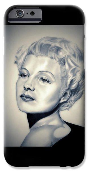 Rita iPhone Cases - Classic Rita Hayworth iPhone Case by Fred Larucci
