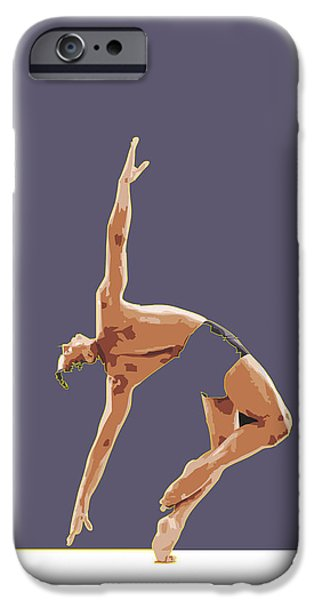 Ballet Drawings iPhone Cases - Classical Ballet Dancer By Quim Abella iPhone Case by Joaquin Abella