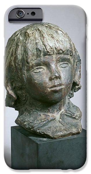 Culture Sculptures iPhone Cases - Claude Renoir - coco iPhone Case by Auguste Renoir