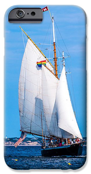 Sailboat Ocean iPhone Cases - Clear Sailing iPhone Case by Karen Regan