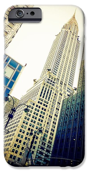Empire State iPhone Cases - Clear View of The Chrysler iPhone Case by Keith Rousseau
