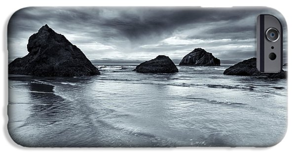 Beach Landscape iPhone Cases - Clearing Storm iPhone Case by Mike  Dawson