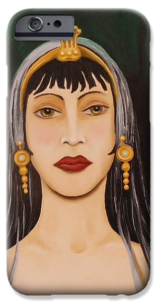Cleo iPhone Case by Leah Saulnier The Painting Maniac