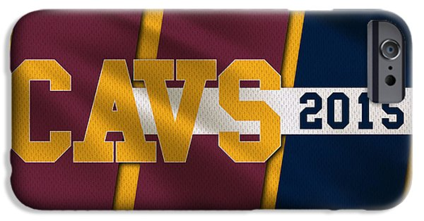 Dunk iPhone Cases - Cleveland Cavaliers Flag2 iPhone Case by Joe Hamilton