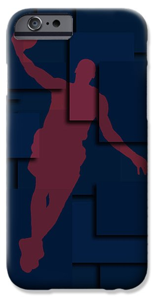 Lebron iPhone Cases - Cleveland Cavaliers Lebron James 2 iPhone Case by Joe Hamilton