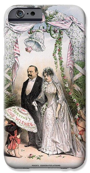 CLEVELANDS WEDDING, 1886 iPhone Case by Granger