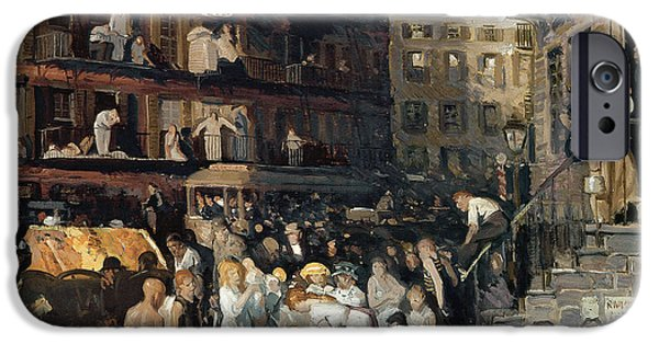 Finance iPhone Cases - Cliff Dwellers iPhone Case by George Wesley Bellows