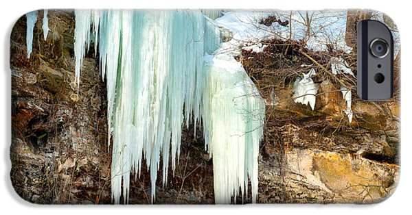 Overhang iPhone Cases - Cliff ice iPhone Case by Kenneth Sponsler