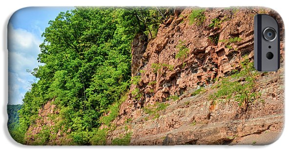Overhang iPhone Cases - Cliffs Along Route 20 in Hinton West Virginia iPhone Case by Kerri Farley