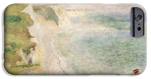 1879 iPhone Cases - Cliffs at Pourville iPhone Case by Pierre Auguste Renoir