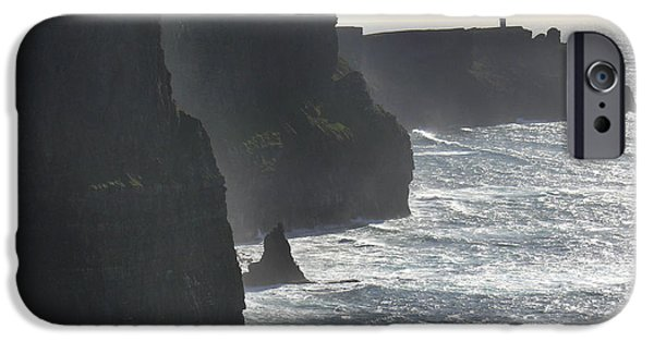 Ledge iPhone Cases - Cliffs of Moher 1 iPhone Case by Mike McGlothlen