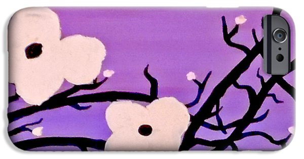 Red Abstract iPhone Cases - Climb in Violet iPhone Case by Jilian Cramb