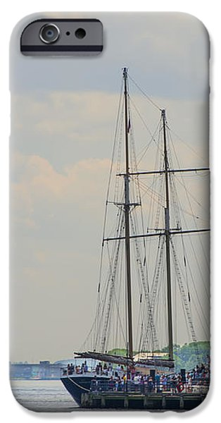 Tall Ship iPhone Cases - Clipper City Tall Ship - Manhattan  iPhone Case by Bill Cannon