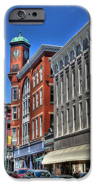 City Scape iPhone Cases - Clock Building iPhone Case by Todd Hostetter