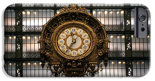 Painter Photographs iPhone Cases - Clock Musee DOrsay iPhone Case by Dan Albright