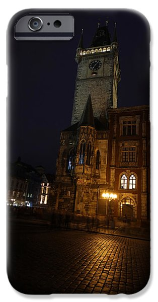 Built Structure iPhone Cases - Clock tower Prague iPhone Case by Chris Smith