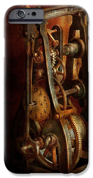 Chronometer iPhone Cases - Clockmaker - Careful I bite iPhone Case by Mike Savad