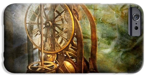 Chronometer iPhone Cases - Clockmaker - The day time stood still  iPhone Case by Mike Savad