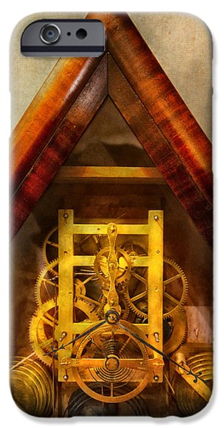 Chronometer iPhone Cases - Clocksmith - Clockwork  iPhone Case by Mike Savad