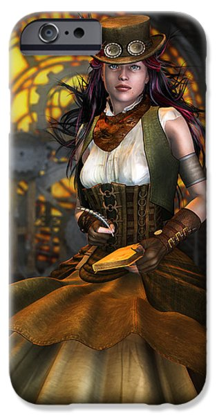 Clockwork iPhone Case by Karen K