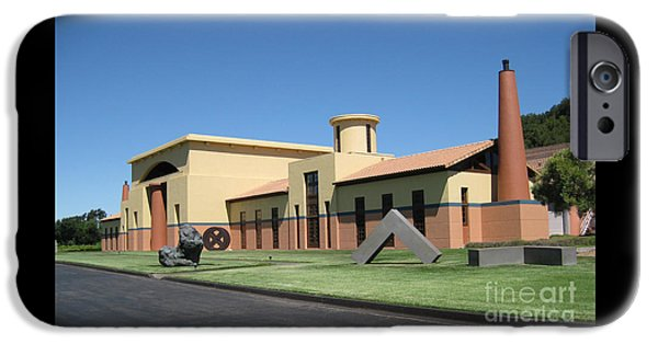 Michael Sculptures iPhone Cases - Clos Pegase Winery iPhone Case by Patti Britton