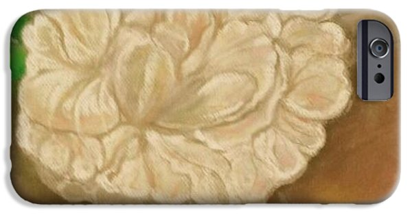 Close Tapestries - Textiles iPhone Cases - Close up Peony iPhone Case by Carole Joyce