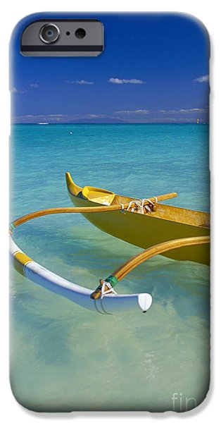 Close-Up Yellow Canoe iPhone Case by Dana Edmunds - Printscapes