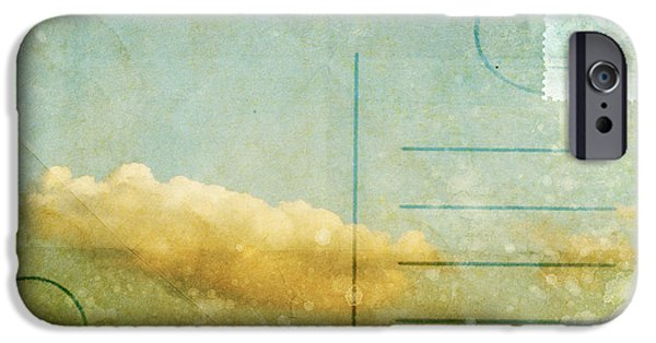 Aging iPhone Cases - Cloud And Sky On Postcard iPhone Case by Setsiri Silapasuwanchai