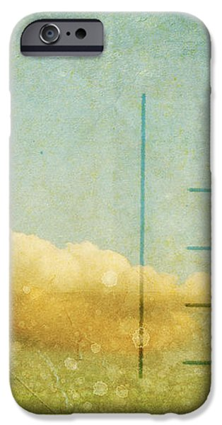 cloud and sky on postcard iPhone Case by Setsiri Silapasuwanchai