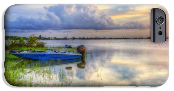 Beach iPhone Cases - Cloud Colors iPhone Case by Debra and Dave Vanderlaan