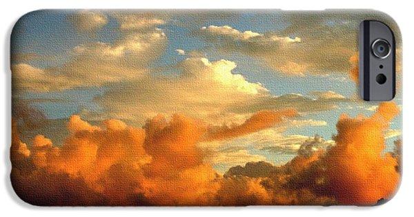 Business Pastels iPhone Cases - Cloud Fantasy H b iPhone Case by Gert J Rheeders