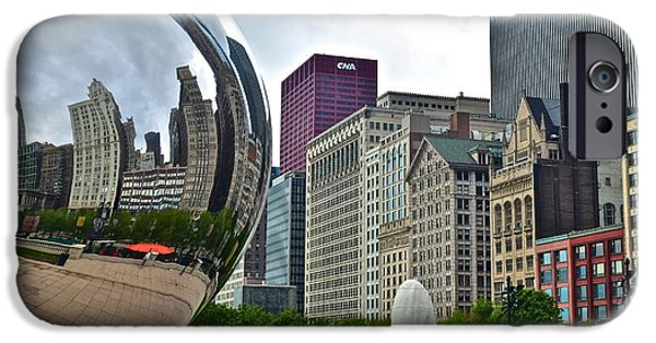Chicago Cubs iPhone Cases - Cloud Gate iPhone Case by Frozen in Time Fine Art Photography