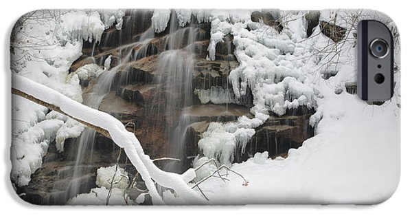 Snowy Brook iPhone Cases - Cloudland Falls - White Mountains New Hampshire iPhone Case by Erin Paul Donovan