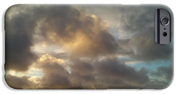 Recently Sold -  - Abstract Digital iPhone Cases - Clouds 3 iPhone Case by AR Teeter