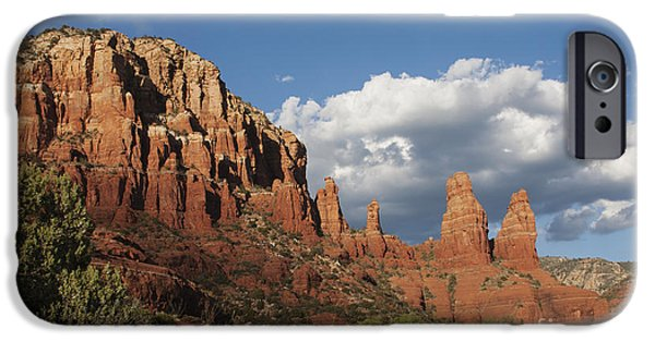 United iPhone Cases - Clouds and Red Rocks iPhone Case by Ruth Jolly