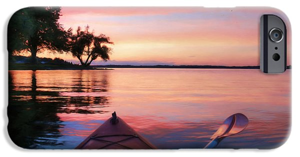 Boat iPhone Cases - Clouds Come Floating iPhone Case by Lori Deiter