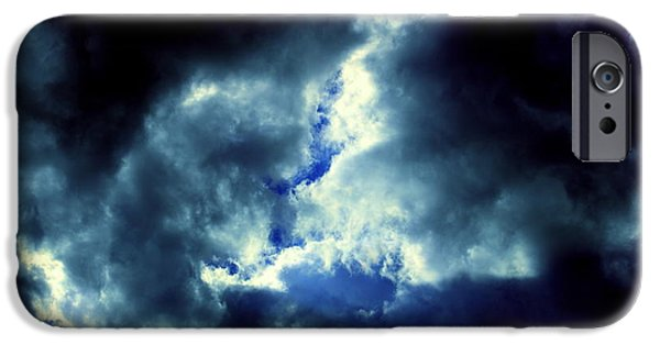 Turbulent Skies iPhone Cases - Clouds of Heaven by Earls Photography iPhone Case by Earl  Eells a