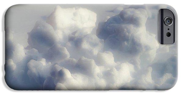 Simplistic iPhone Cases - Clouds of Snow iPhone Case by Wim Lanclus