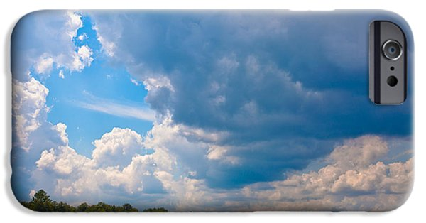 David iPhone Cases - Clouds Over Inlet iPhone Case by David Patterson