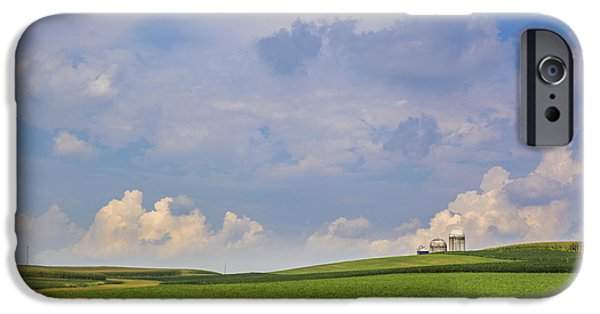 Epic iPhone Cases - Clouds over the fields iPhone Case by Alex Potemkin